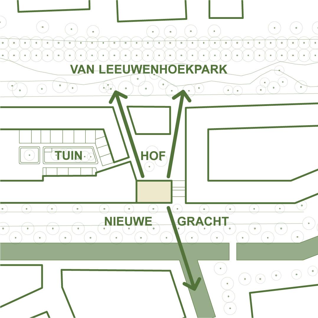 Tekening van bouwgroep Nieuw Delftse Poort veld 6