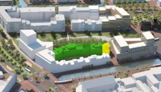 Impressie van Nieuw Delft met veld 2.3 uitgelicht