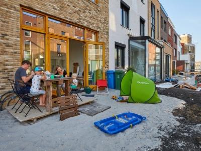 Foto van tuin van bewoners van de coendersbuurt