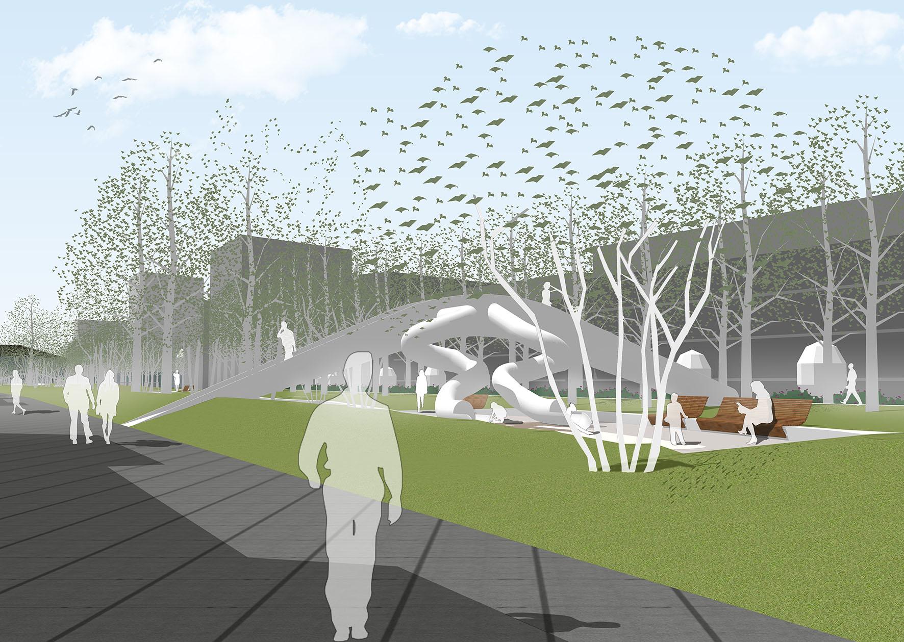 Impressie van het van Leeuwenhoekpark