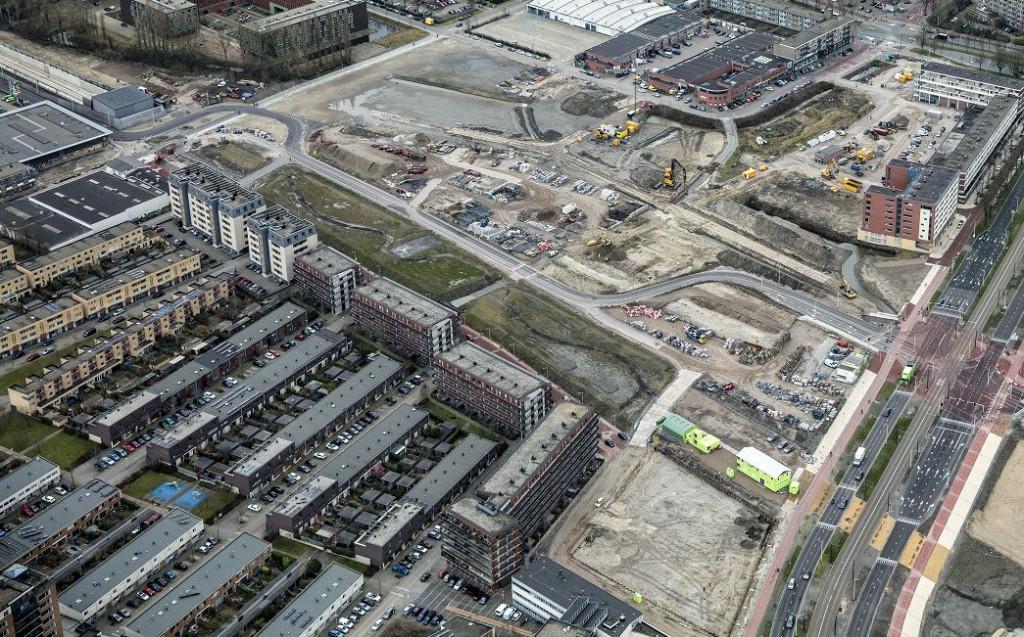 Luchtfoto van de Engelsestraat