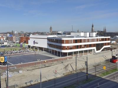 Luchtfoto van het Delftland college