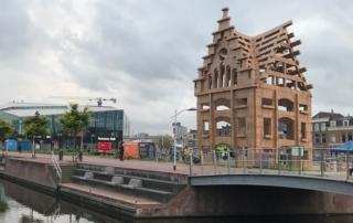 Foto kartonnen bouwwerk