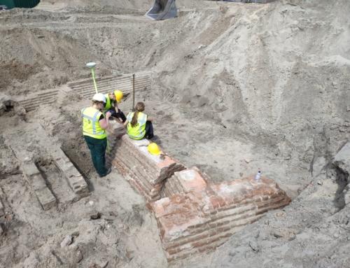 Archeologische opgraving op terrein Huis van Delft