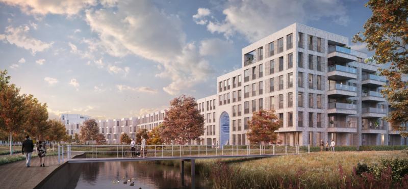 Impressie van het gebouw PoortMeesters in Nieuw Delft