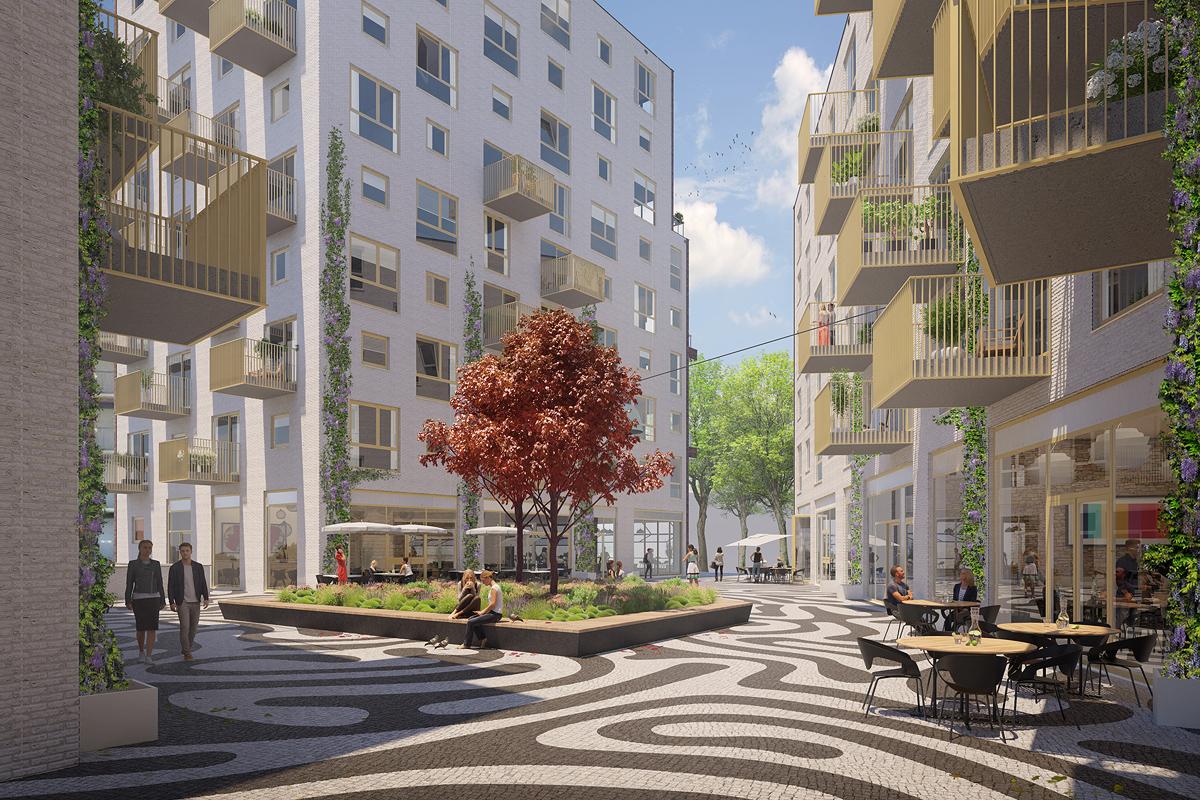 Impressie van gebouw VOLT in Nieuw Delft