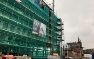 Gebouw van Antoni in Nieuw Delft in de stijgers