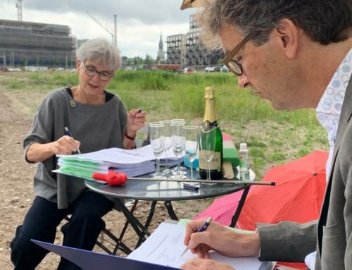 Coöperatie '33Bovengronds' en gemeente Delft ondertekenen ontwikkelingsovereenkomst voor eerste wooncoöperatie in Delft