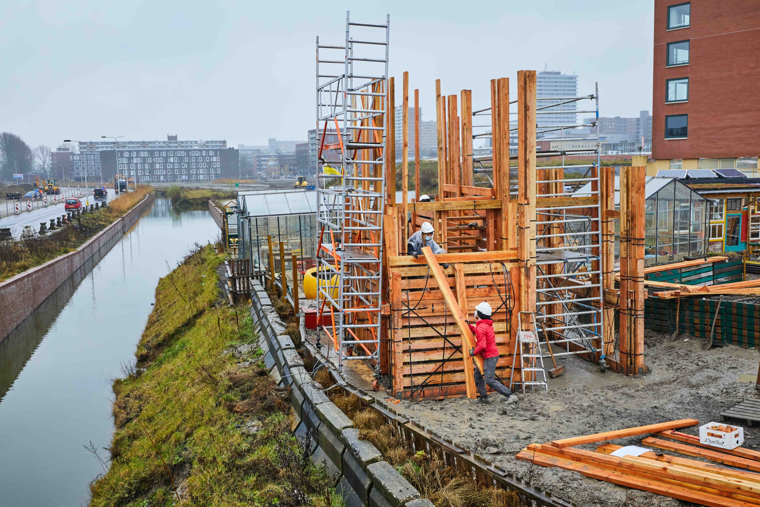 Circulaire uitkijktoren in Nieuw Delft