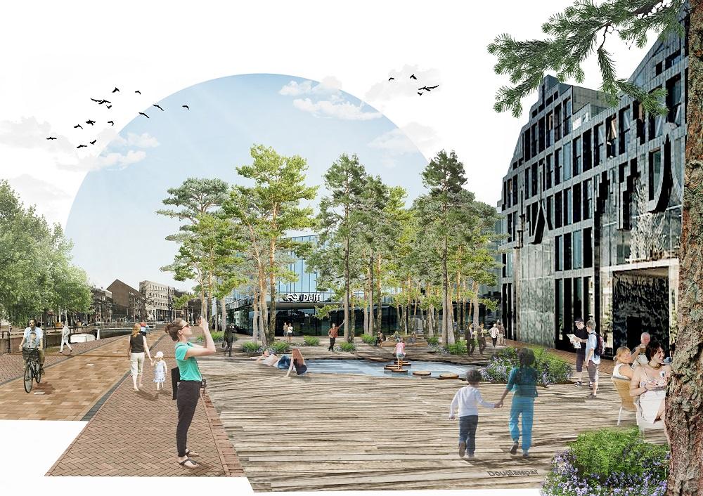 Impressie ontwerp Baljon: Houttuinplein - uit het goede hout gesneden