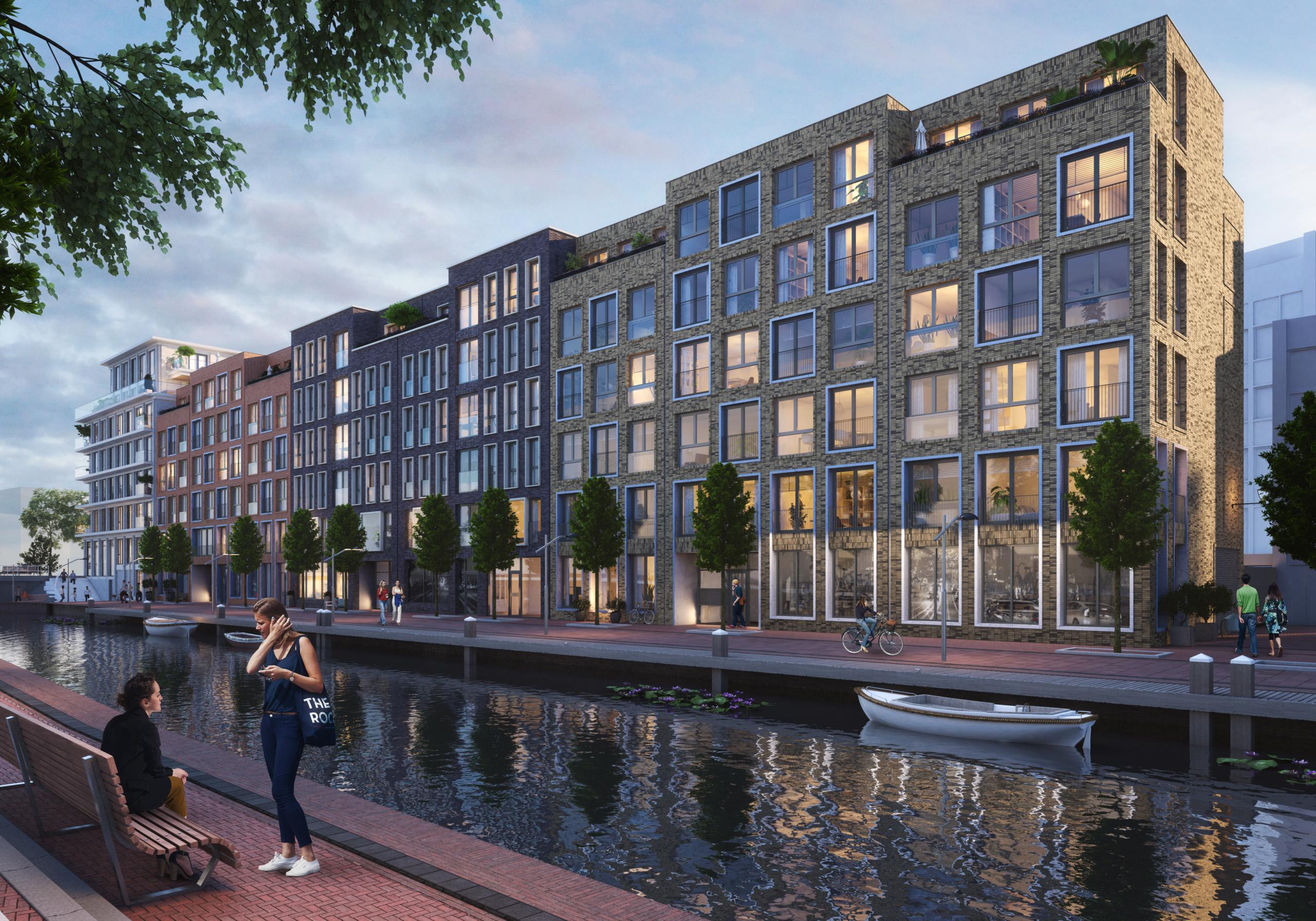 Impressie van het gebouw Vermeer in Nieuw Delft